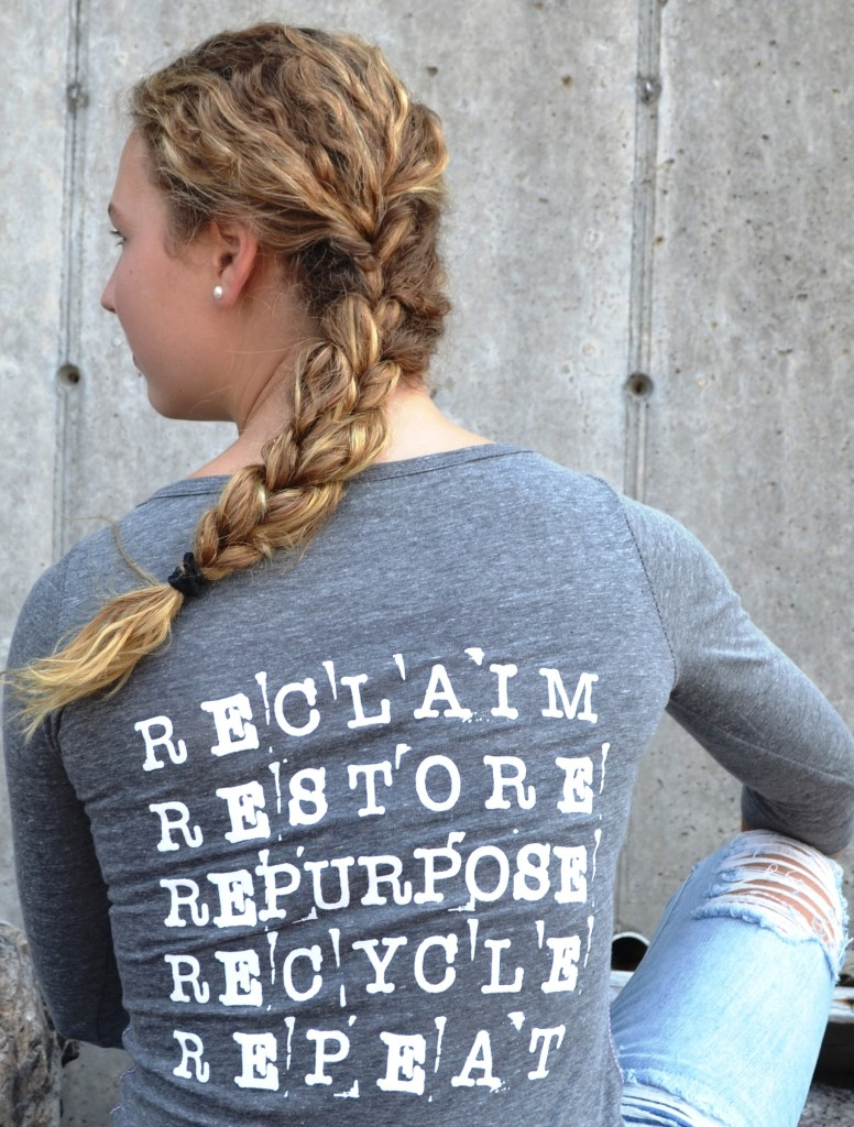 SalvageSecrets Design Tshirt back Long Sleeveclose up