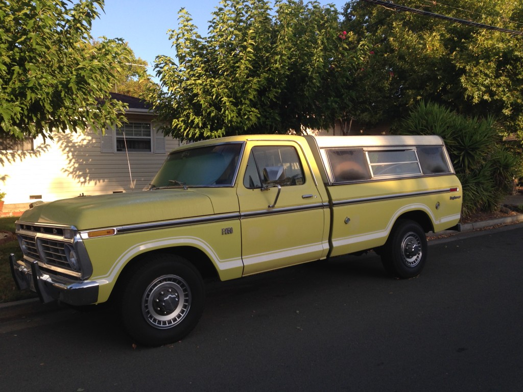 Vintage Ford Explorer Truck Yellow