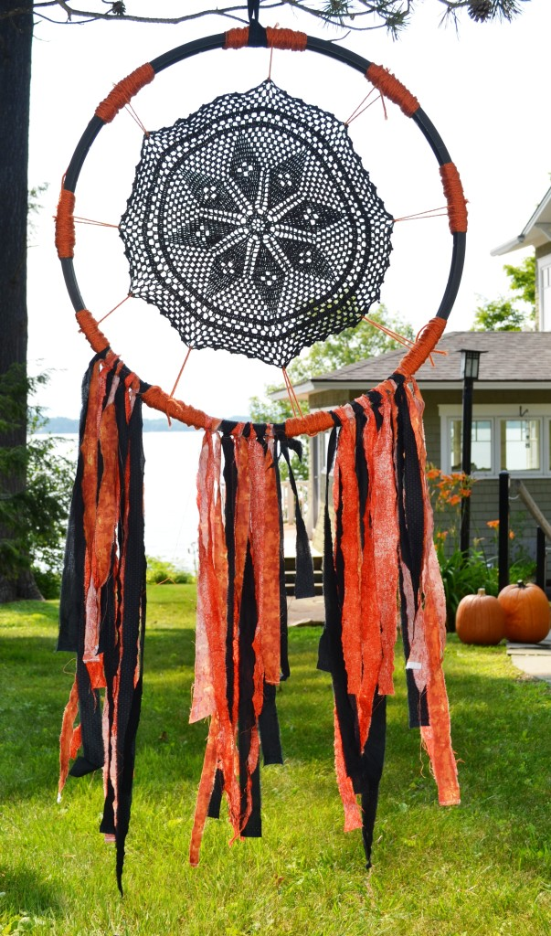 Halloween Dream Catcher by Joanne Palmisano Salvage Secrets Design