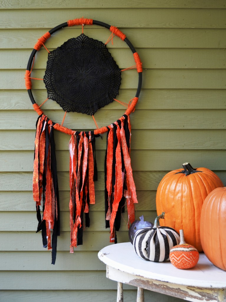 Halloween Dream (or Nightmare) Catcher by Joanne Palmisano of Salvage Secrets Design Photo by Joanne Palmisano